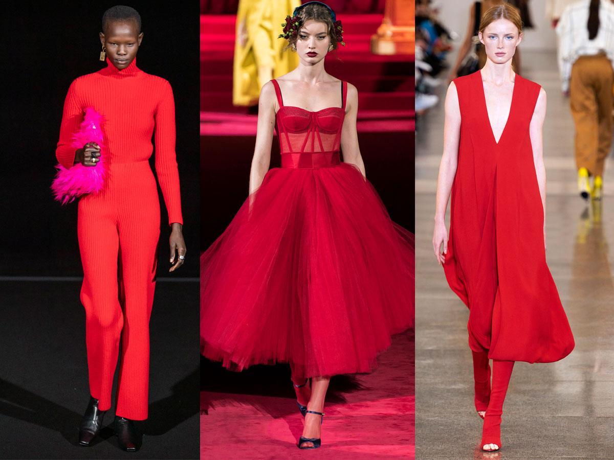 Czerwony modne kolory jesień-zima 2019/2020