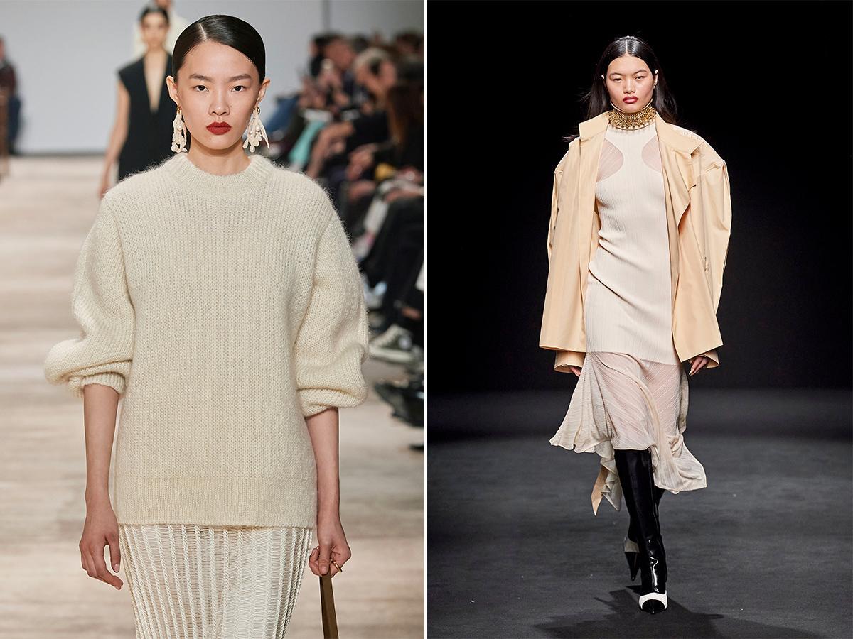 modne kolory jesień zima 2020 2021 śmietankowy