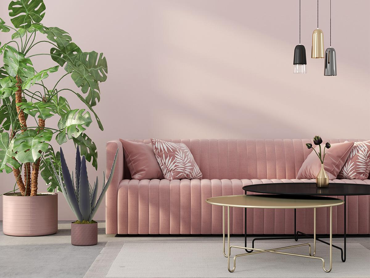 różowe ściany