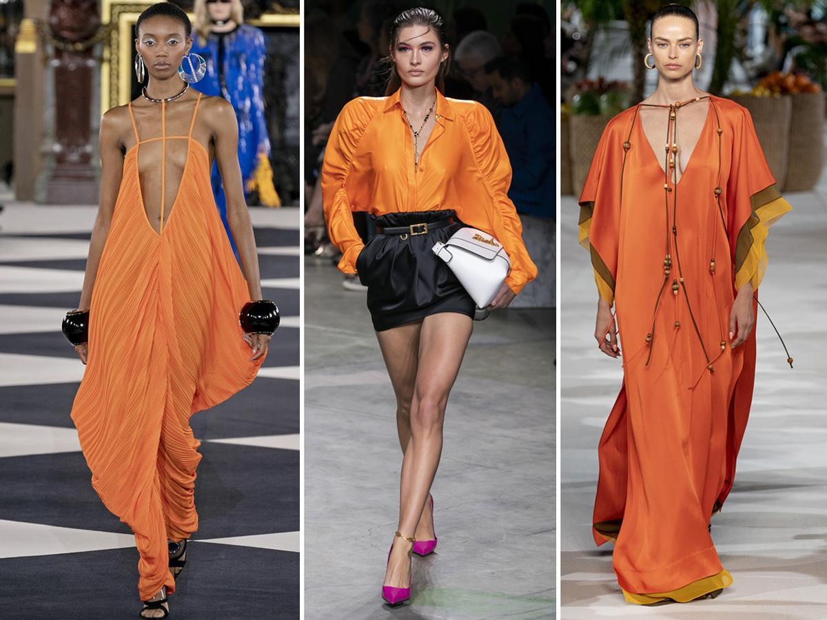 modne kolory wiosna lato 2020 pomarańczowy