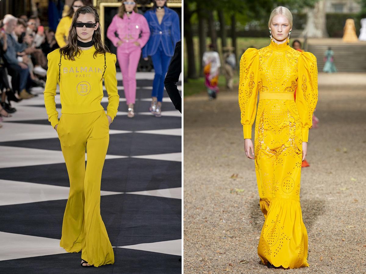modne kolory wiosna lato 2020 żółty