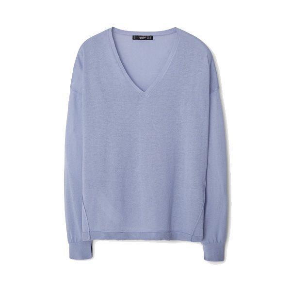 Błękitny sweter Mango, cena