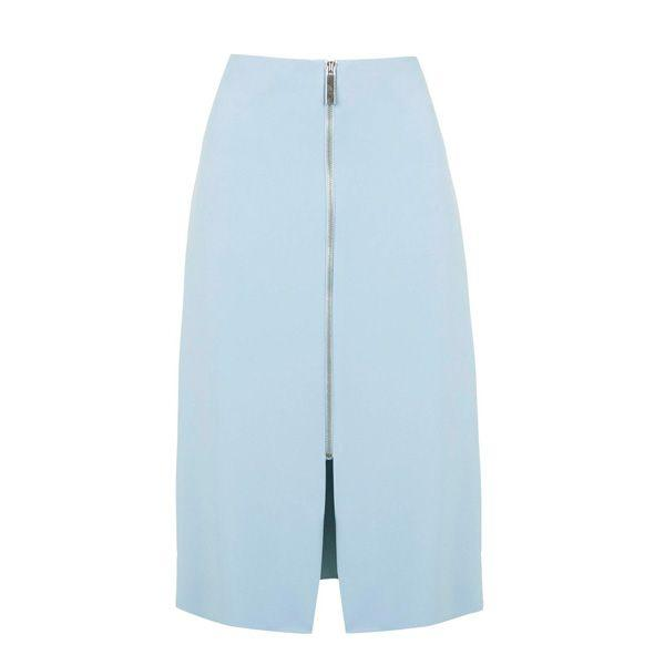 Błękitna spódnica Topshop, cena