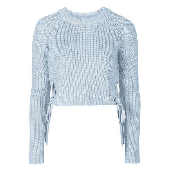 Błękitny sweter Topshop, cena