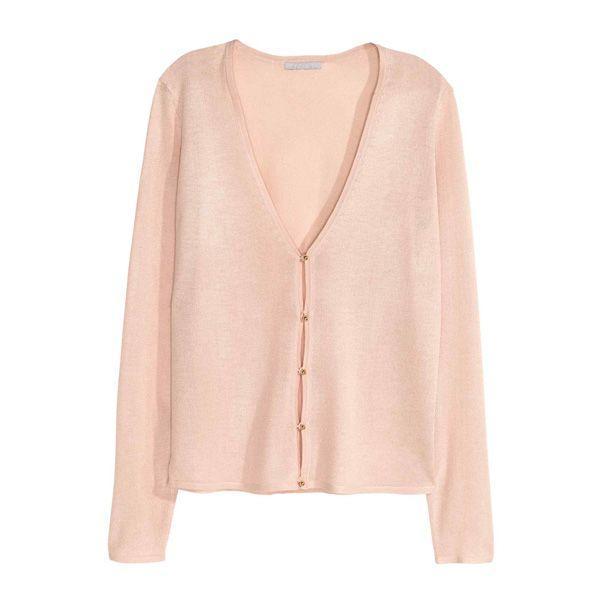 Pudrowo różowy sweter H&M, cena,