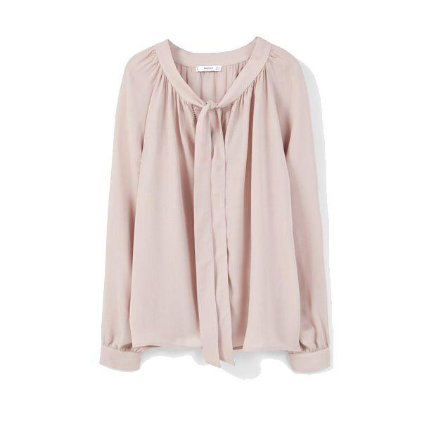 Pudrowo różowa koszula Mango, cena
