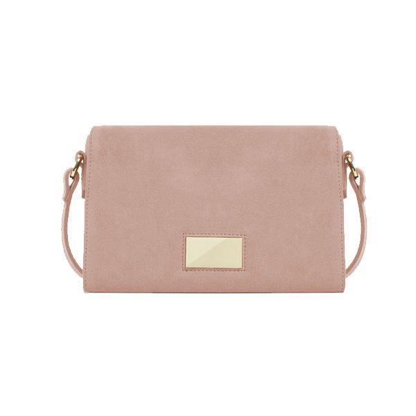 Pudrowo różowa torebka Zara, cena