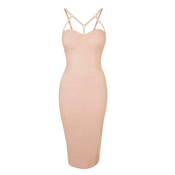 Pudrowo różowa sukienka Topshop, cena