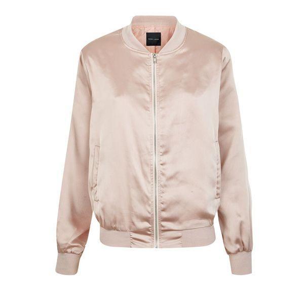 Pudrowo różowy bomber New Look, cena
