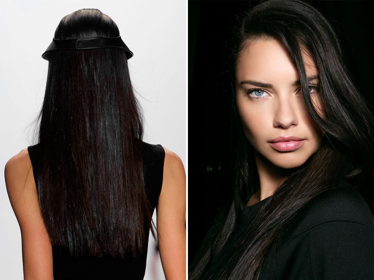 Modne kolory włosów czarne
