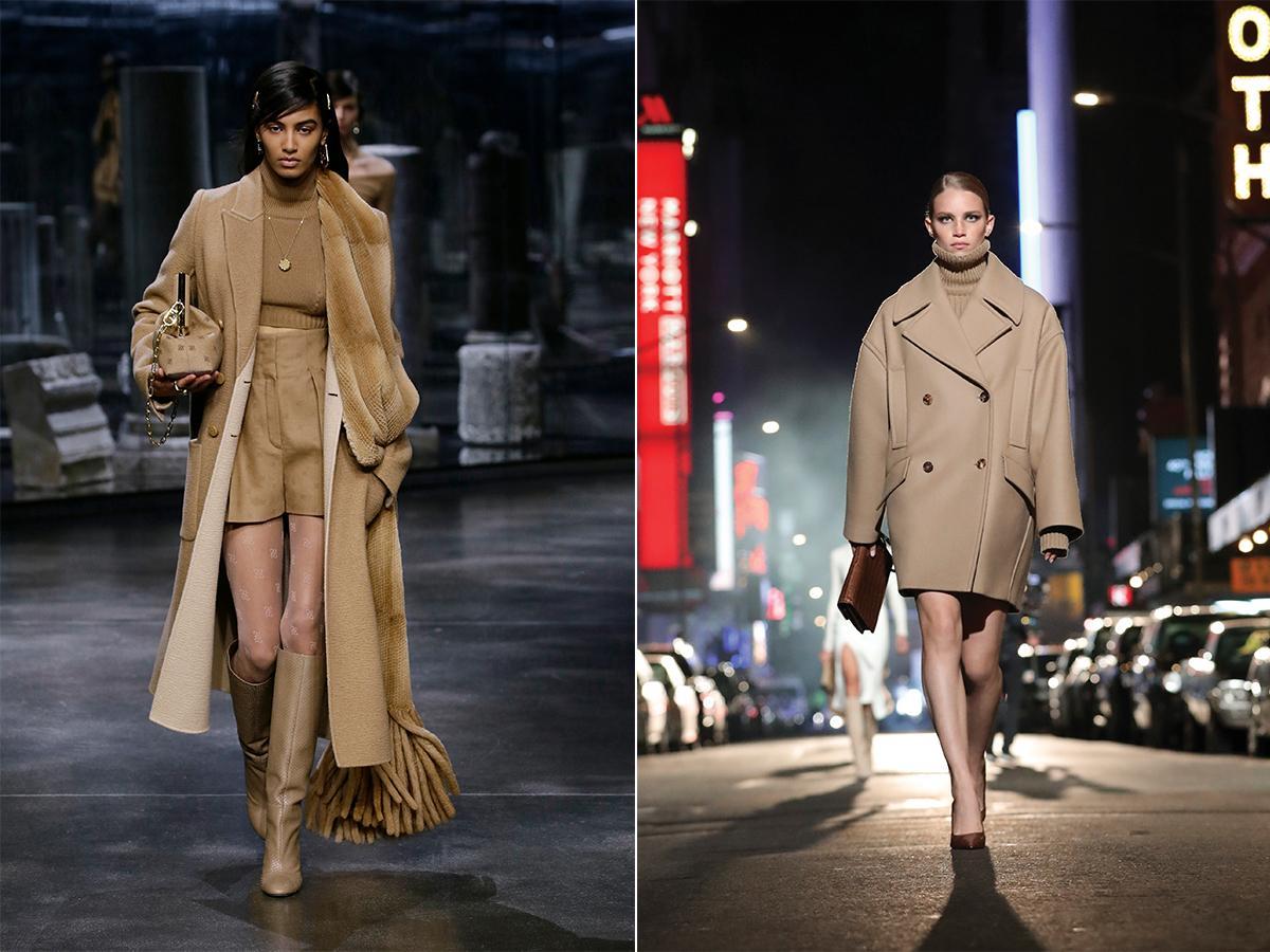 beżowe płaszcze jesień 2021