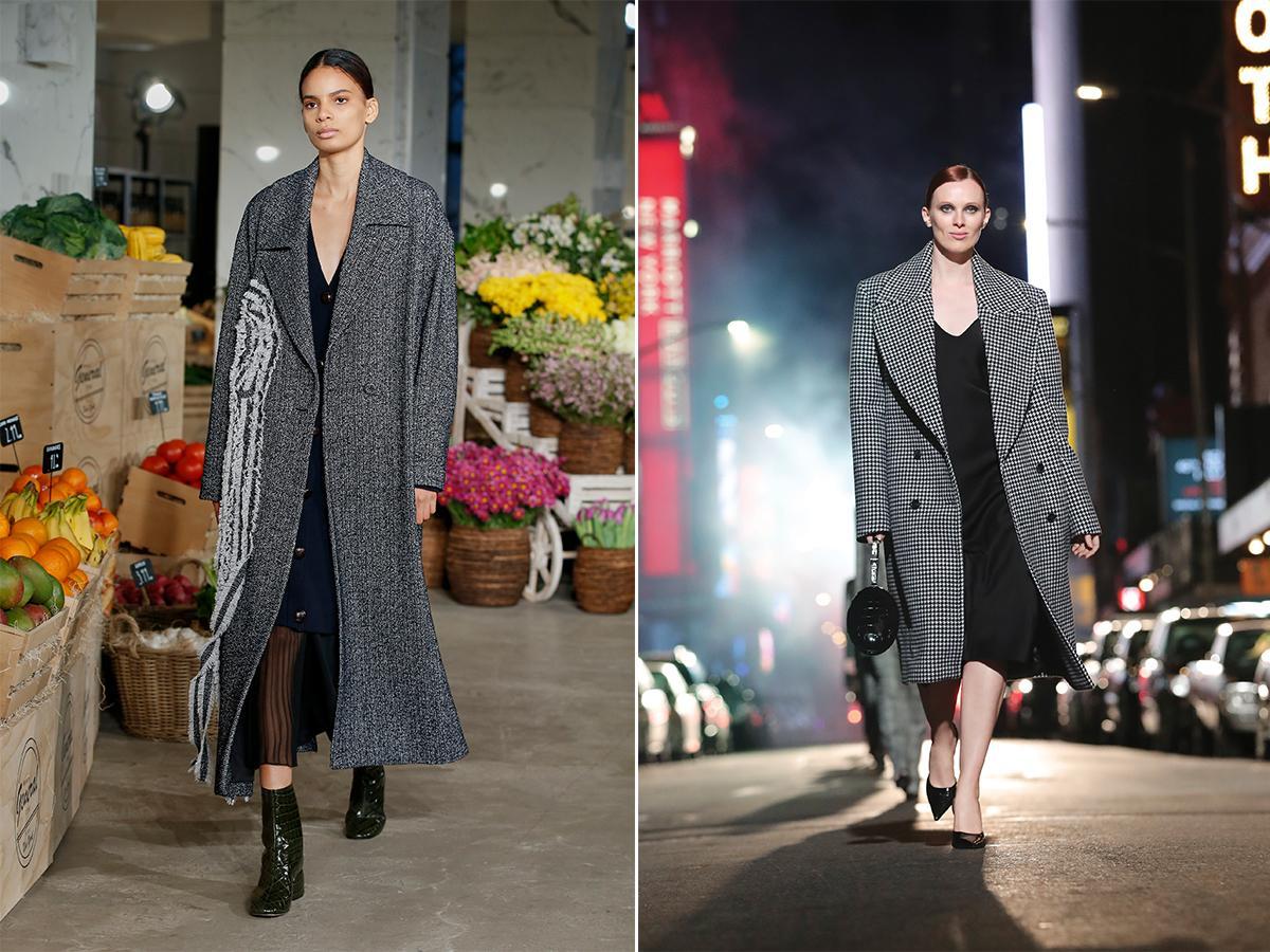 czarnobiałe płaszcze jesień 2021