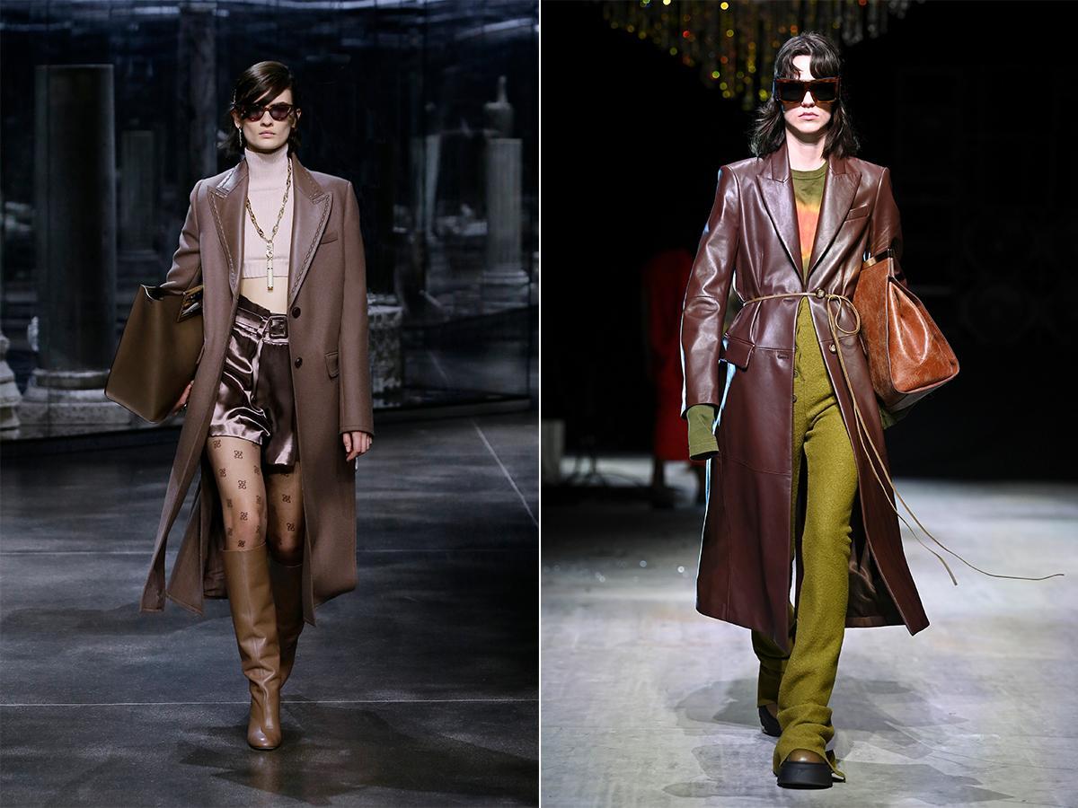 skórzane płaszcze jesień 2021