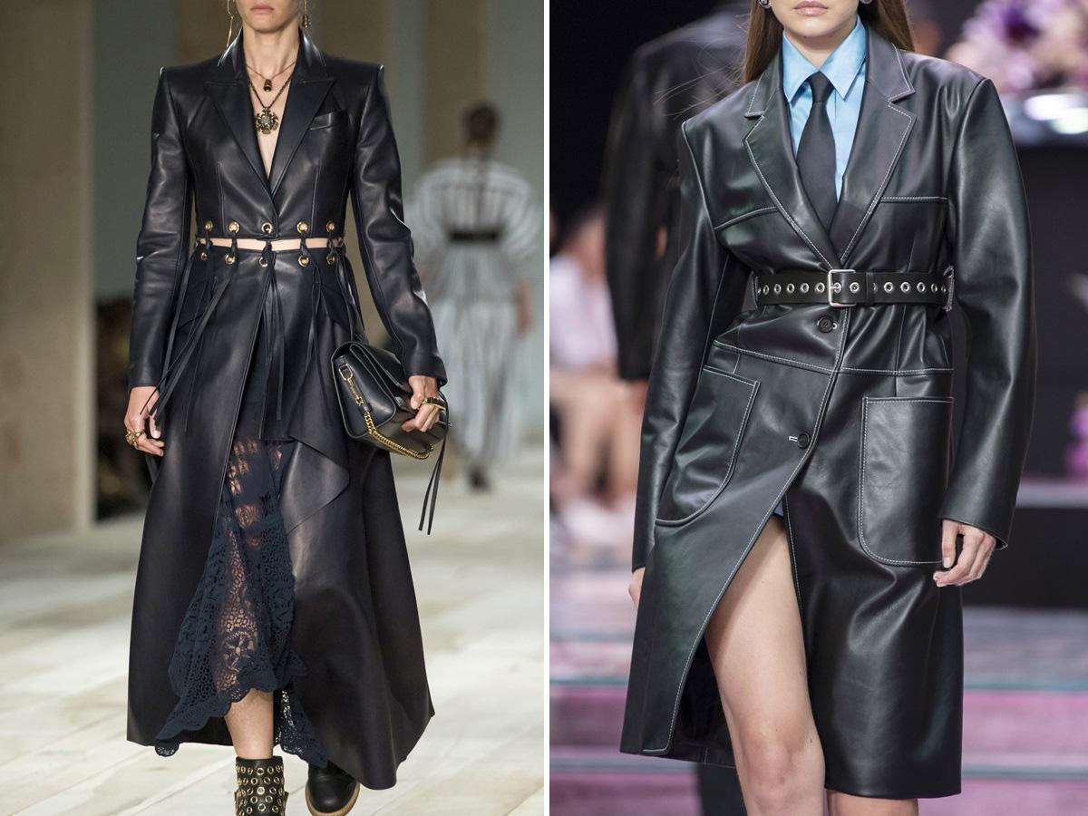 modne płaszcze na wiosnę 2020 skórzane