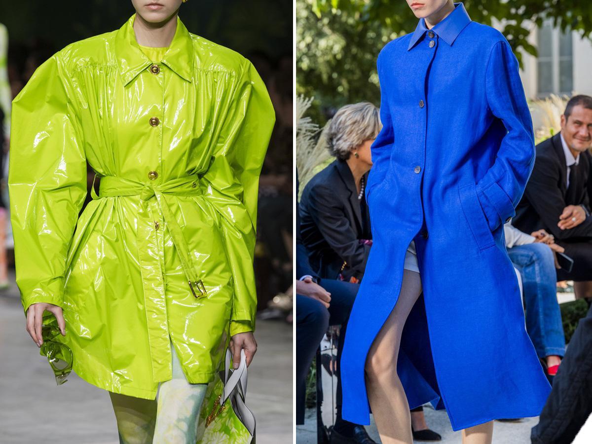 modne płaszcze na wiosnę w intensywnych kolorach