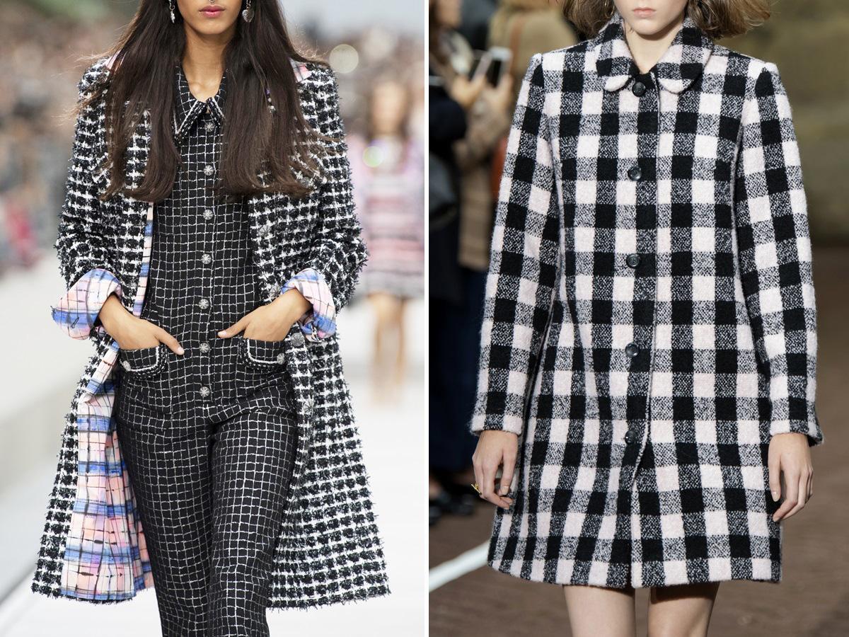 modne płaszcze na wiosnę 2020 w kratę