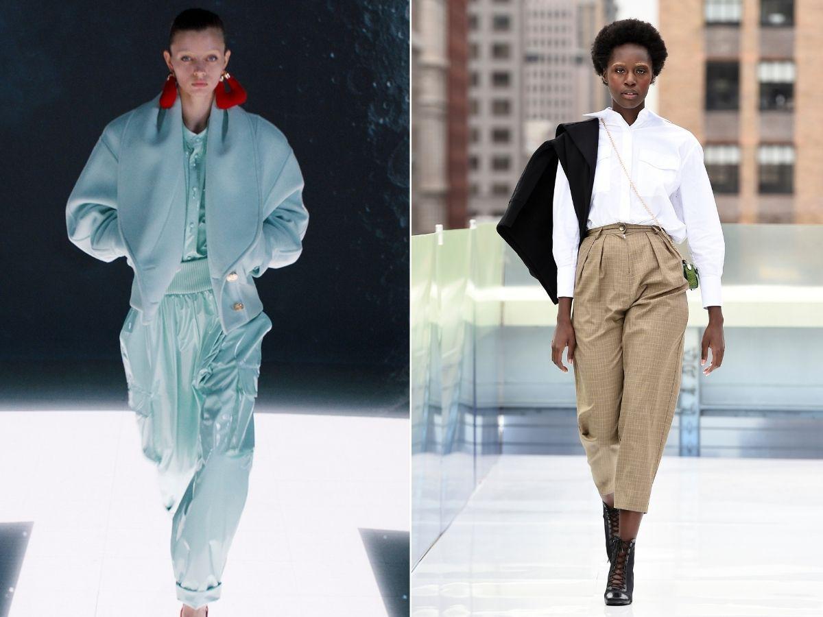 spodnie z wysoką talią jesień 2021