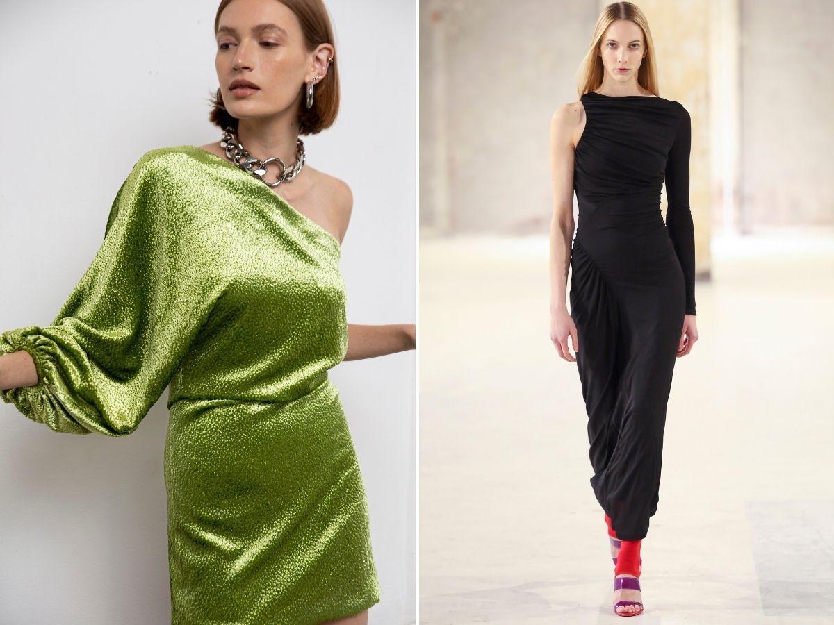 sukienka asymetryczna jesień 2021