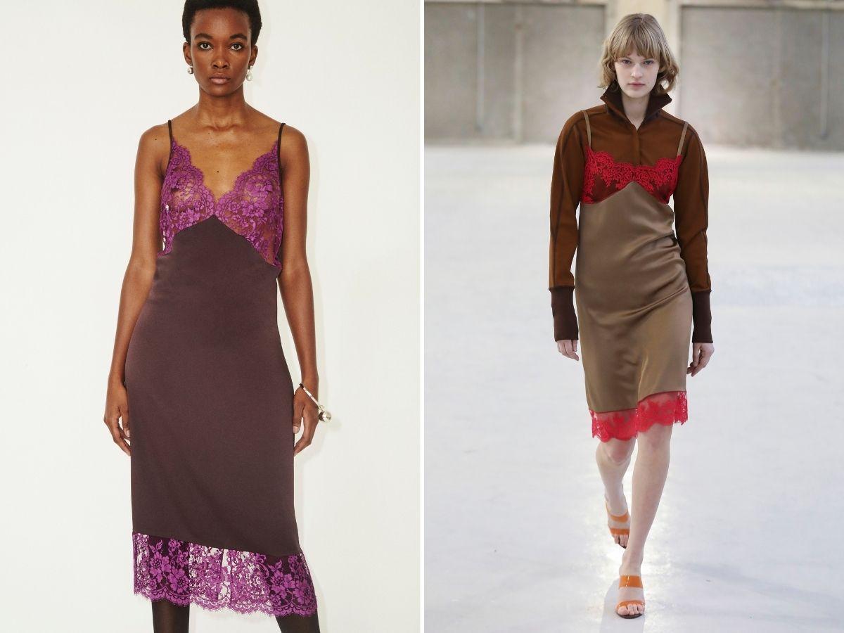 bieliźniane sukienki jesień 2021