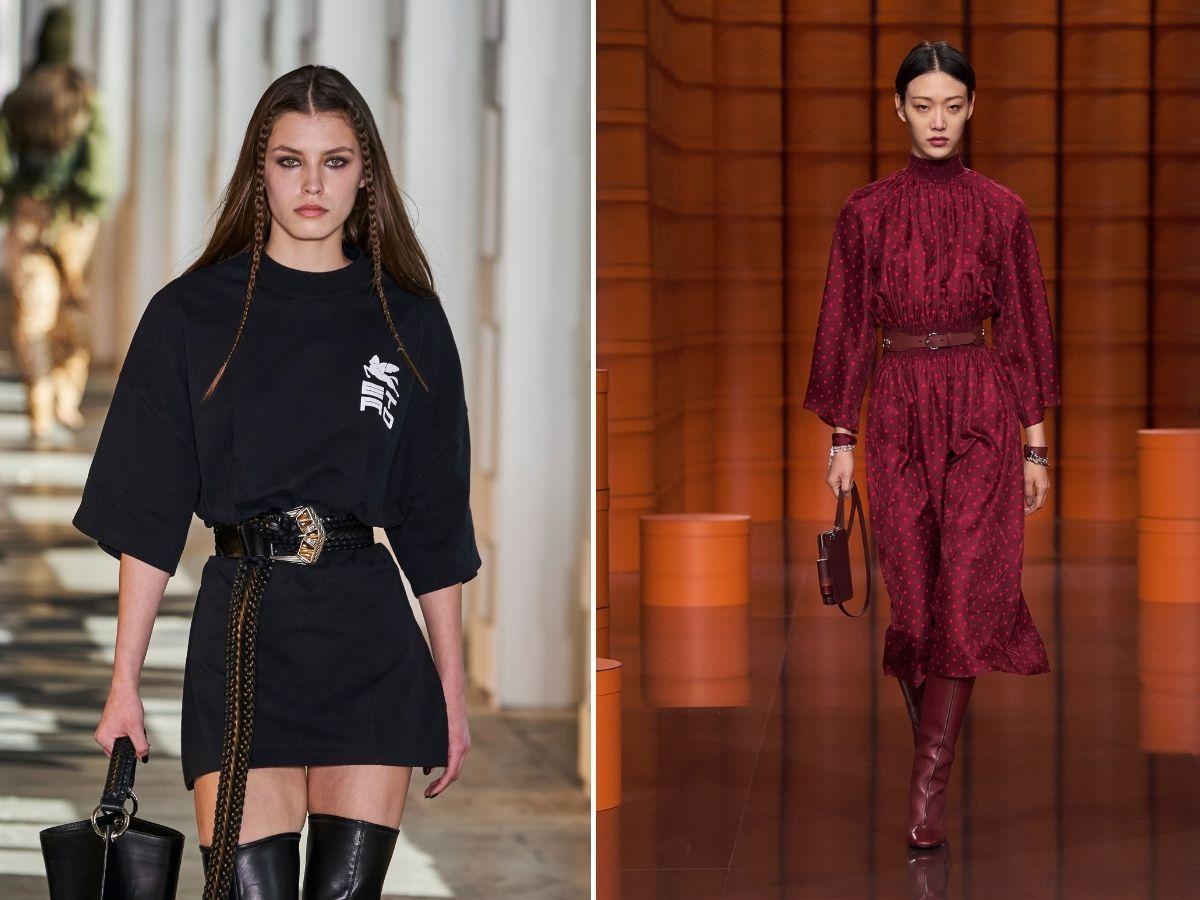 taliowane sukienki jesień 2021