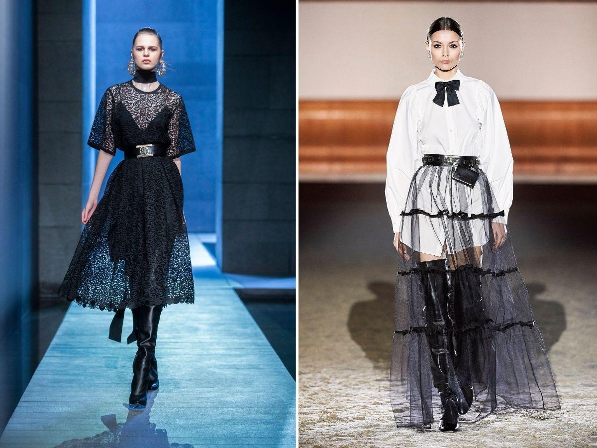 przeźroczyste sukienki jesień 2021