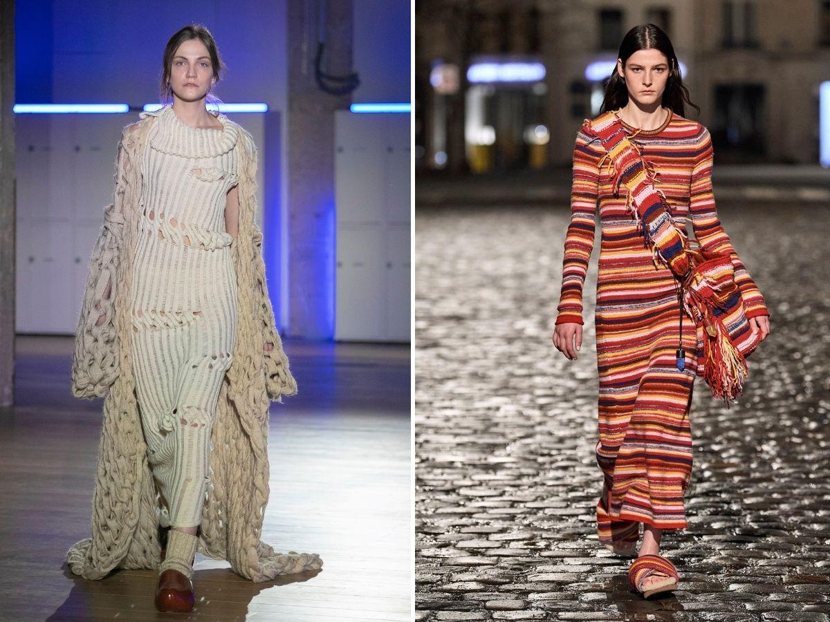 sukienka sweter jesień 2021