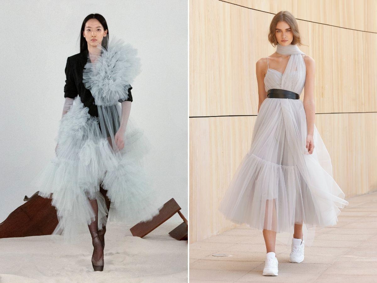 sukienki z tiulu na jesień 2021