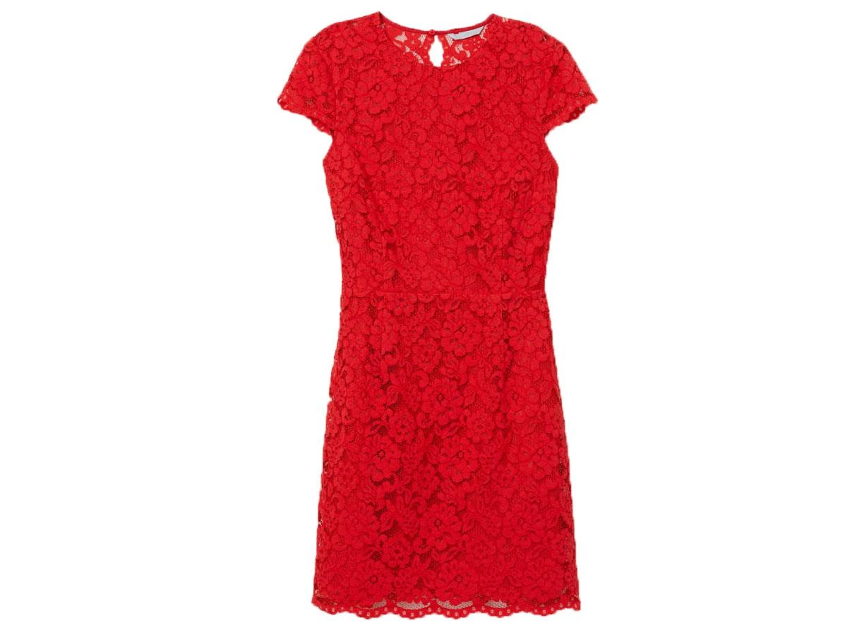 be57836658654 Czerwona Sukienka Z Koronki Hm Cena Ok 19900 Zł Najmodniejsze