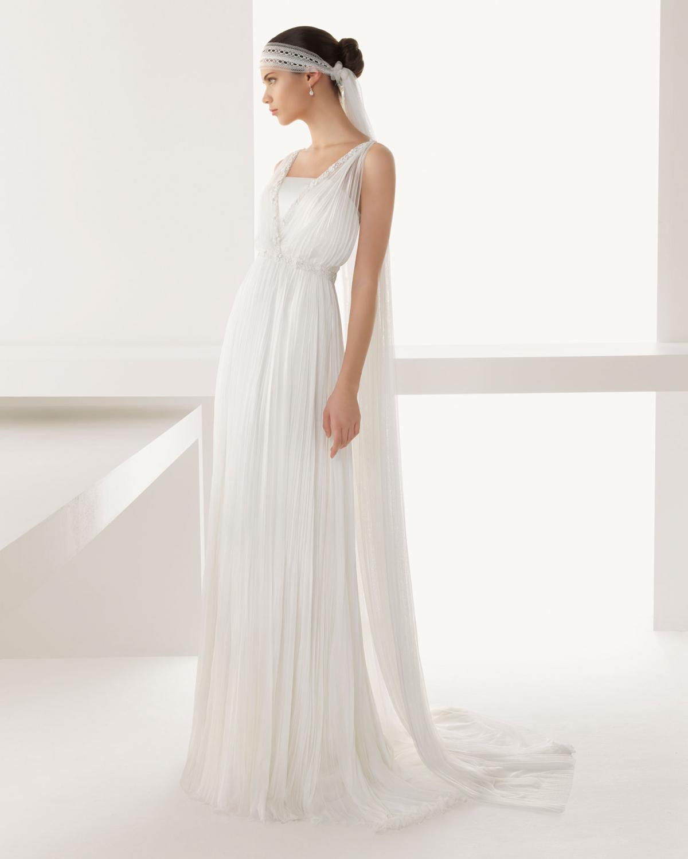 Suknia ślubna Rosa Clara Prosta W Stylu Lat 20 Modne Suknie