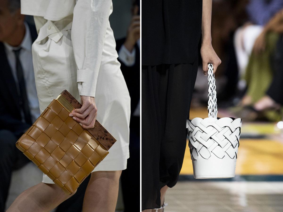 torebki z plecionej skóry wiosna lato 2020