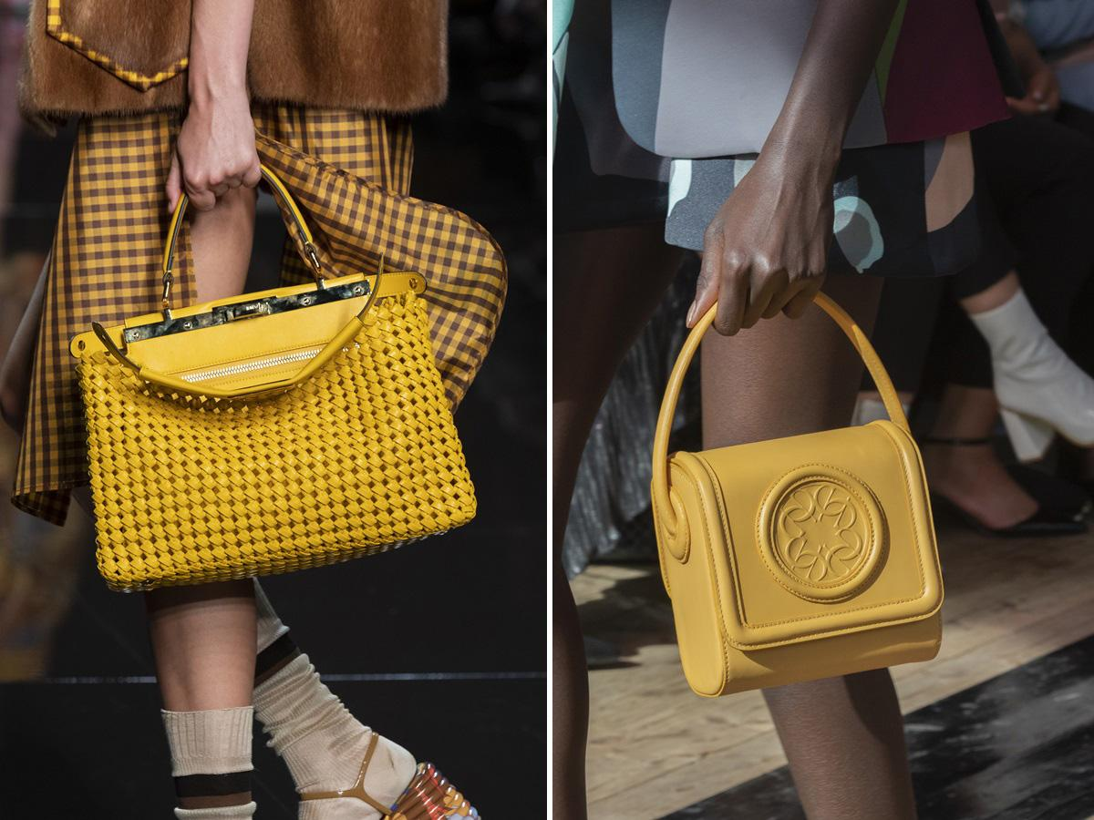 żółte torebki wiosna lato 2020