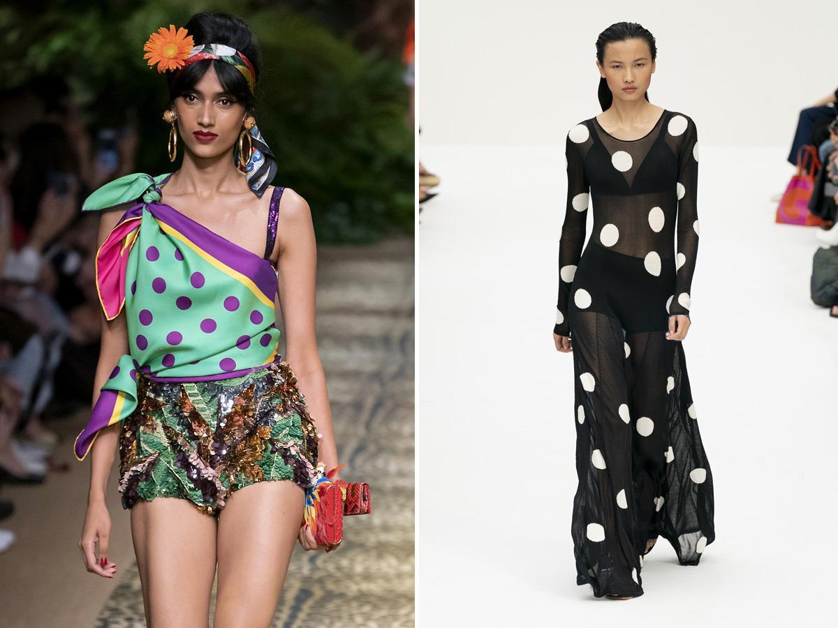 modne wzory wiosna lato 2020 grochy