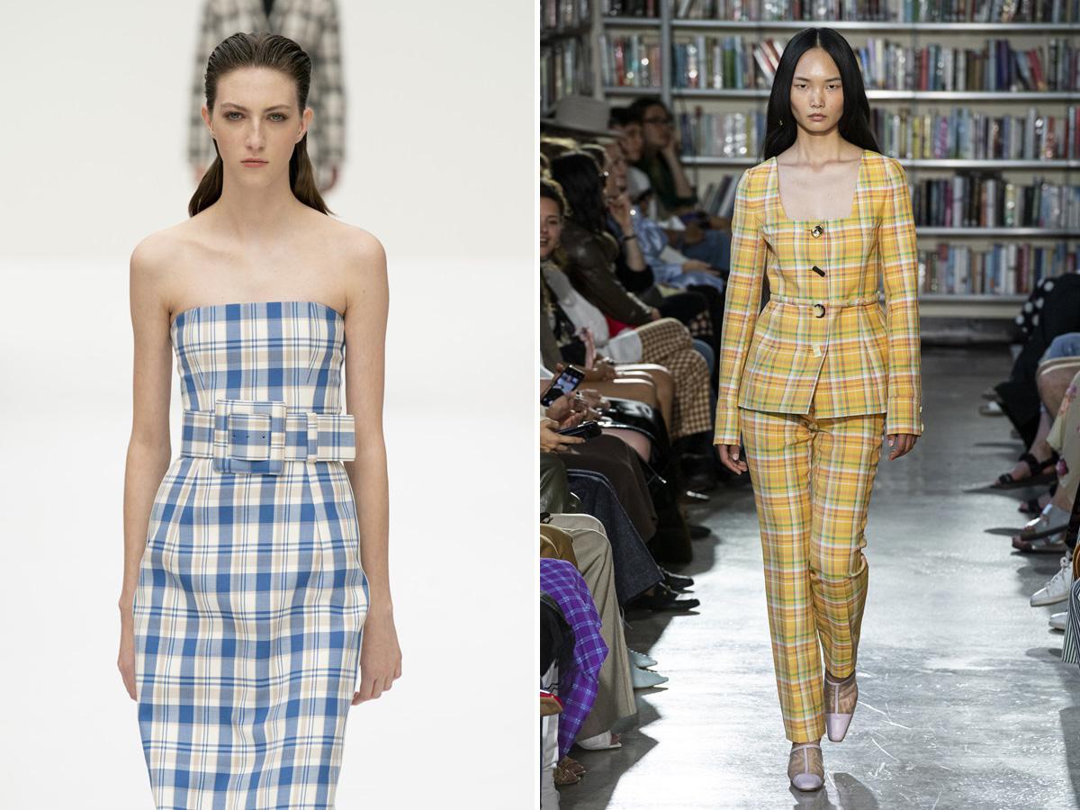 modne wzory wiosna lato 2020 kratka