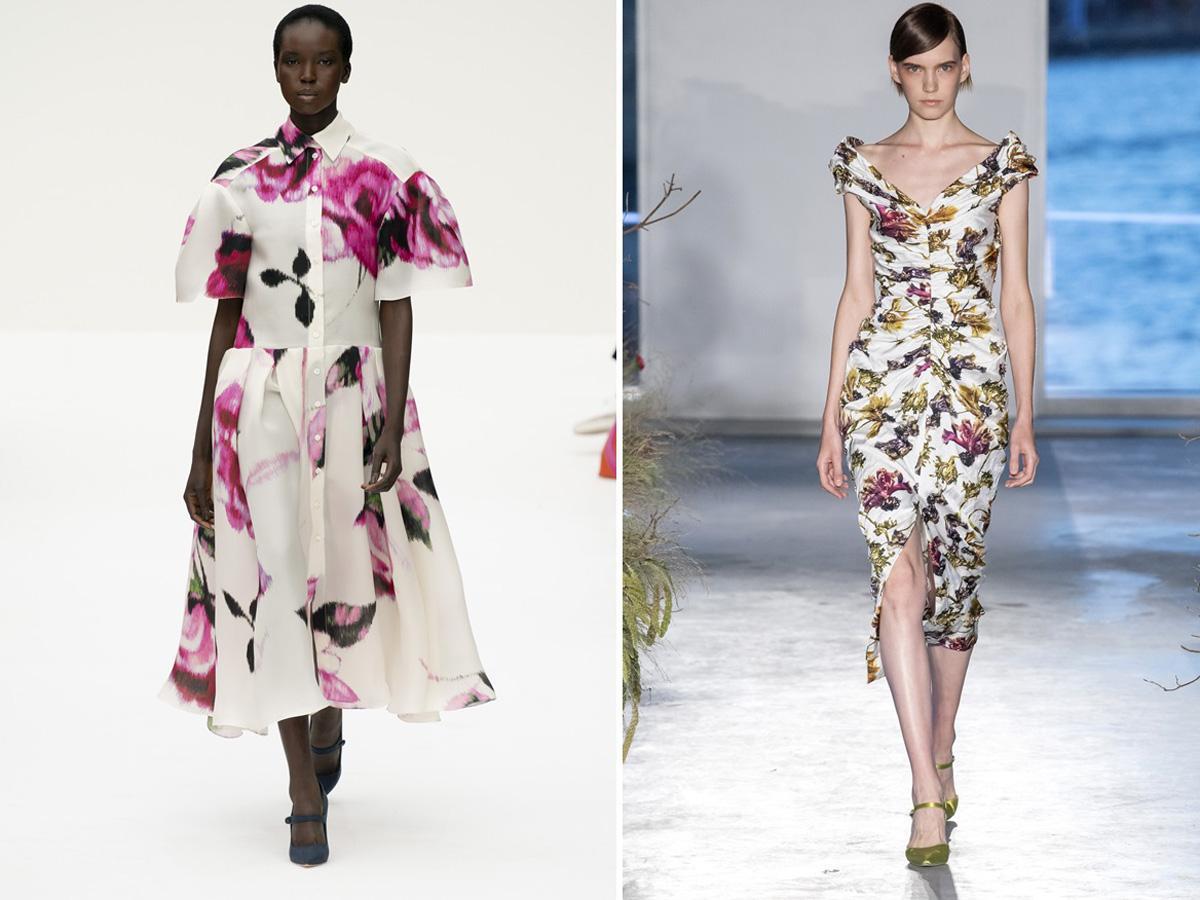 modne wzory wiosna lato 2020 kwiaty