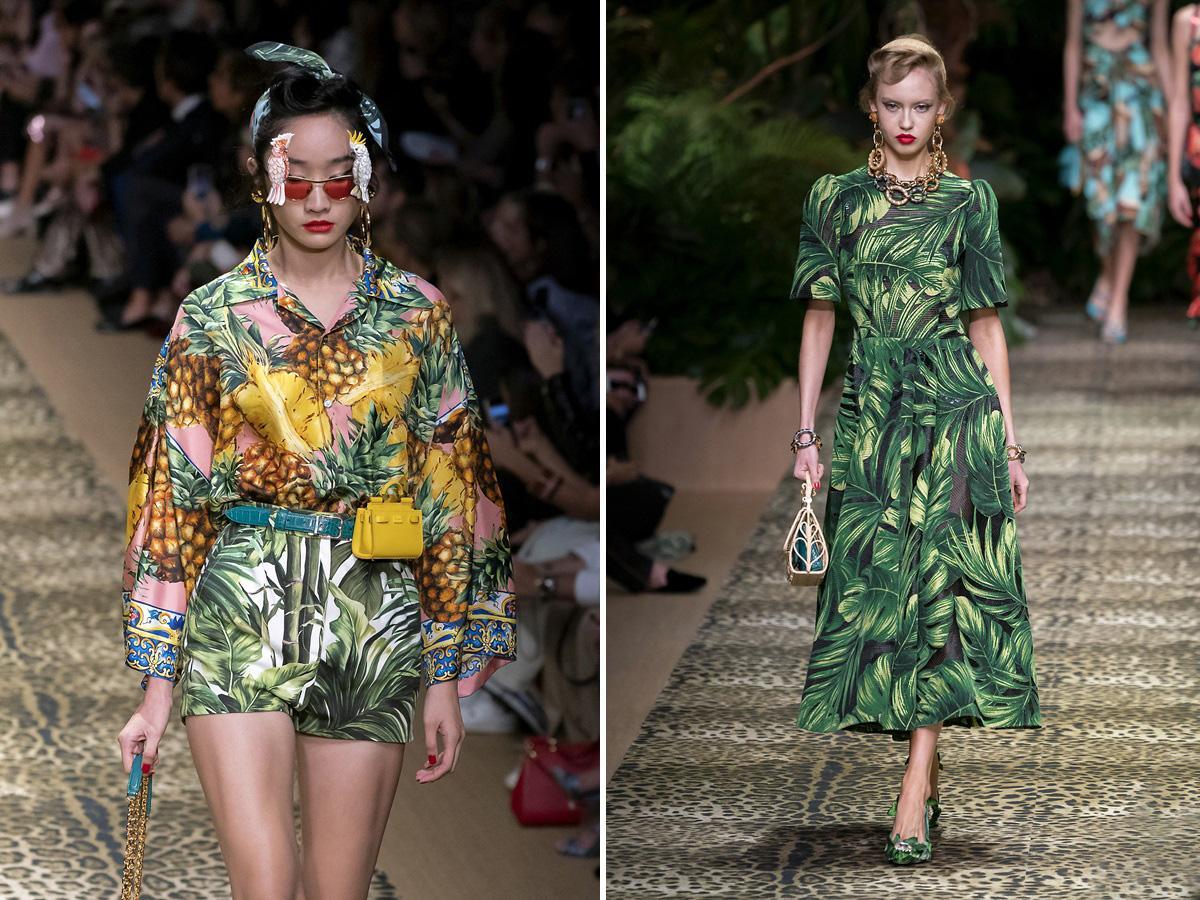 modne wzory wiosna lato 2020 tropikalne wzory