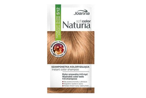 Naturia soft color saszetka szamponetka naturalny blond Joanna, cena: ok. 3 zł.