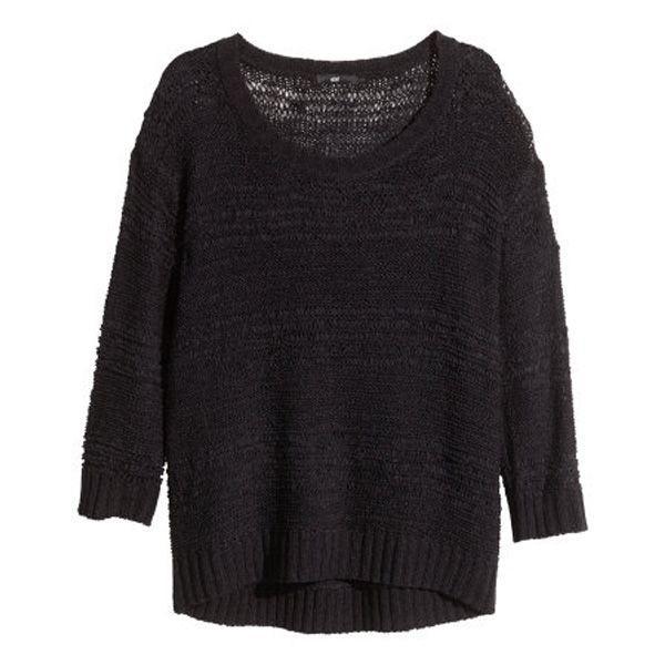 Czarny sweter oversize H&M, cena