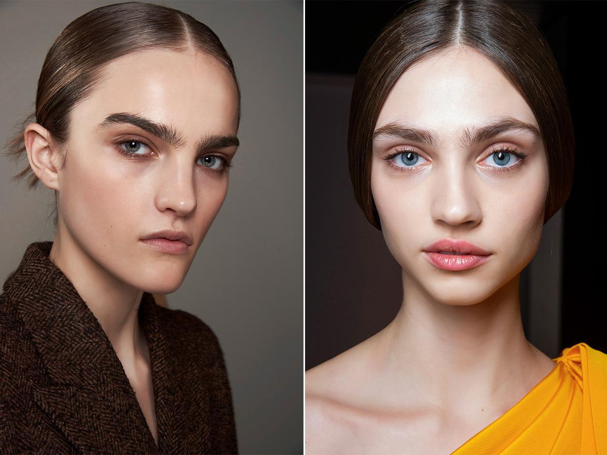 modne brwi trendy makijaż 2020