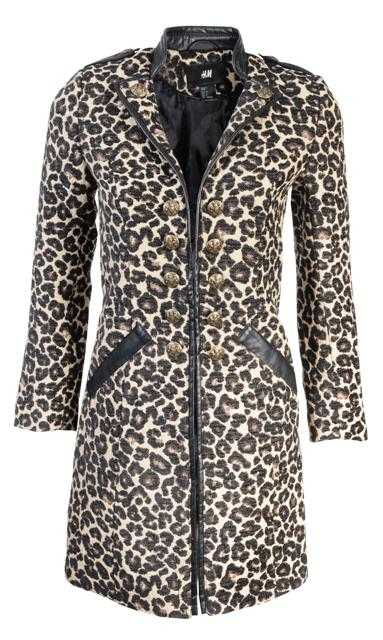 H&M, płaszcz, cętki