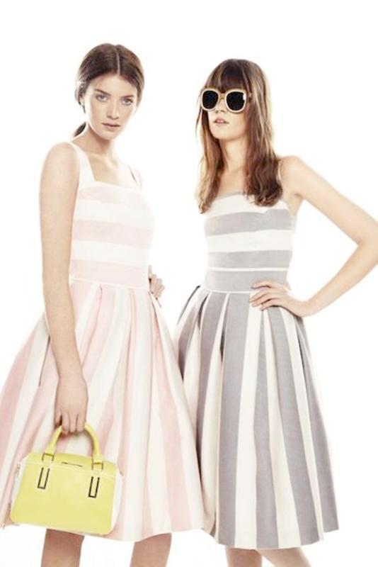 Modny wzór w paski - trendy w kolekcjach 2013
