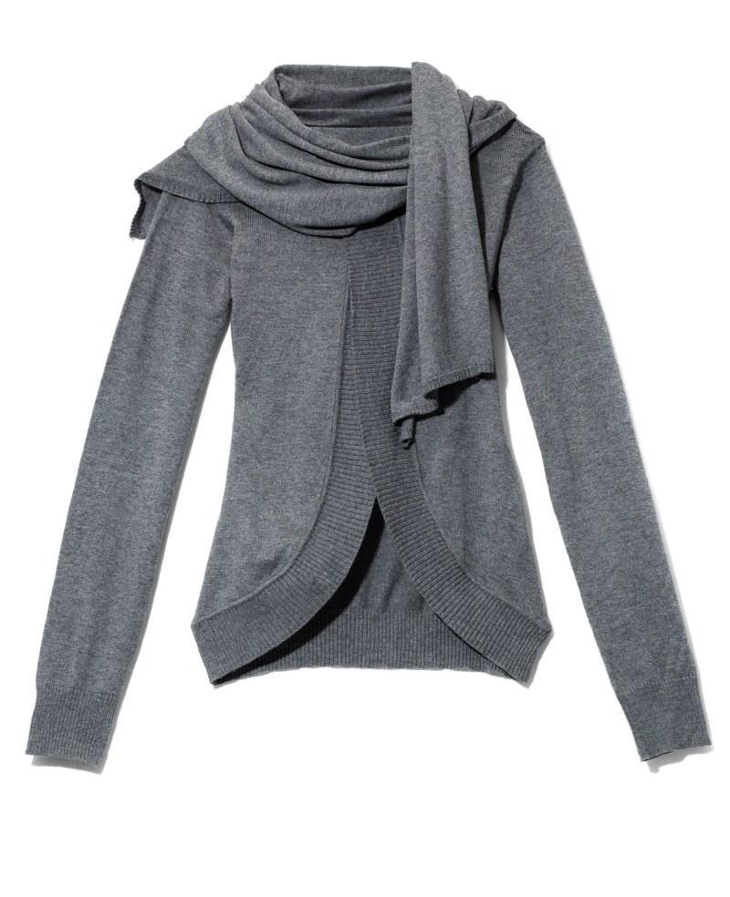szary sweter Mohito - kolekcja jesienno-zimowa