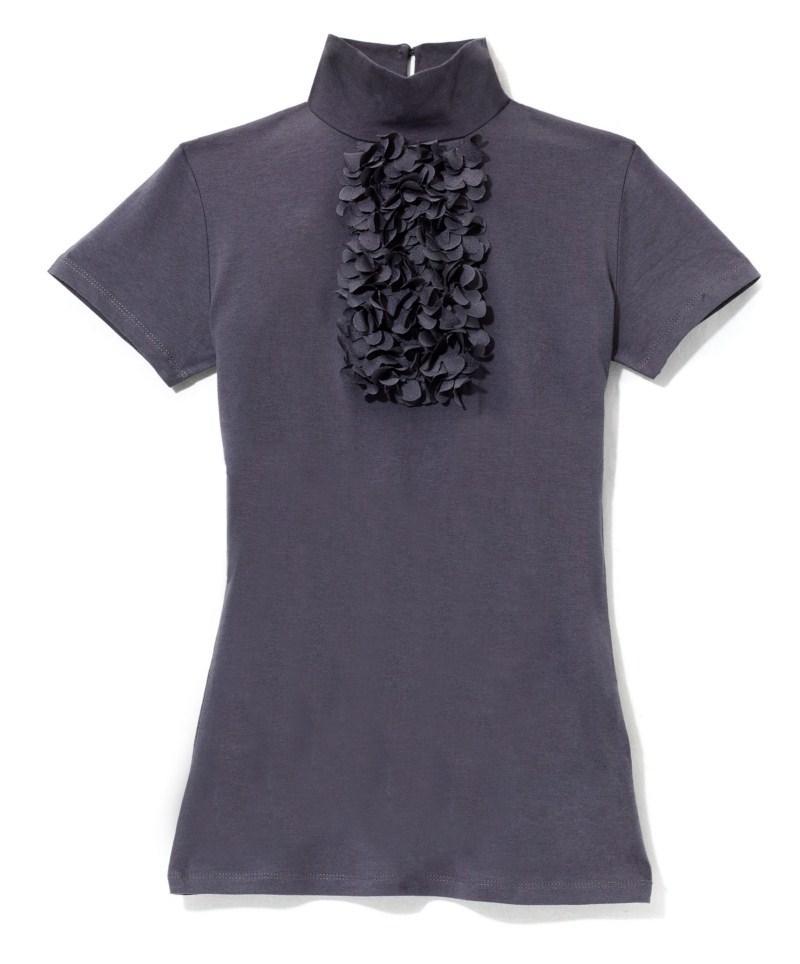 fioletowa bluzka Mohito z żabotem - trendy na jesień-zimę