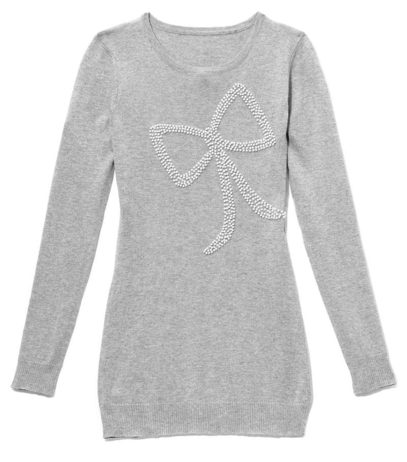 szara bluzka Mohito z aplikacją - trendy na jesień-zimę