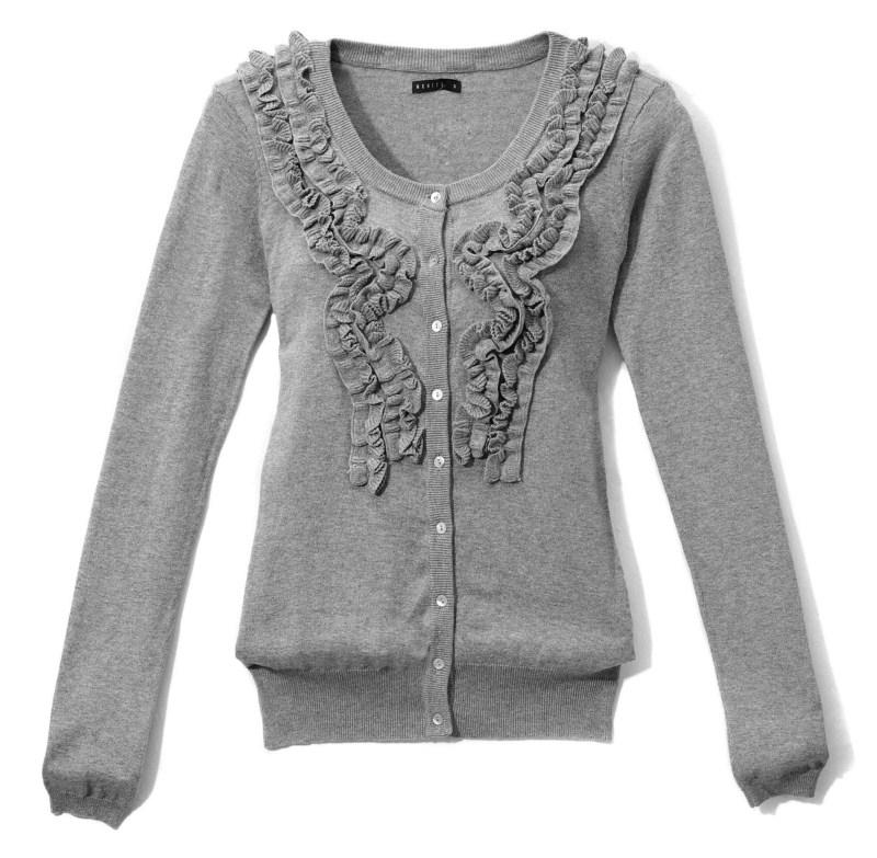 szary sweter Mohito rozpinany - jesień-zima 2010/2011