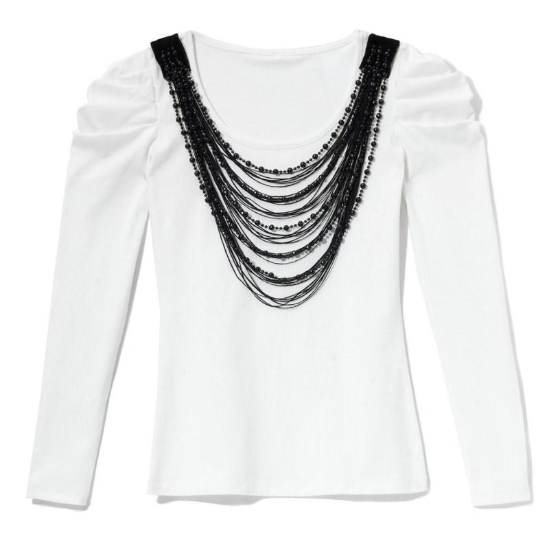 biała bluzka Mohito - jesień-zima 2010/2011