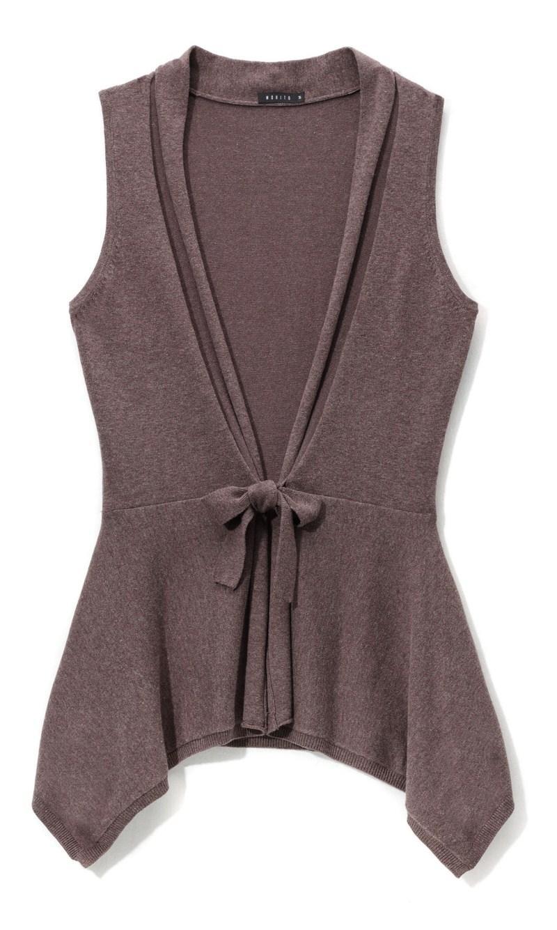 brązowa kamizelka Mohito - moda jesienna