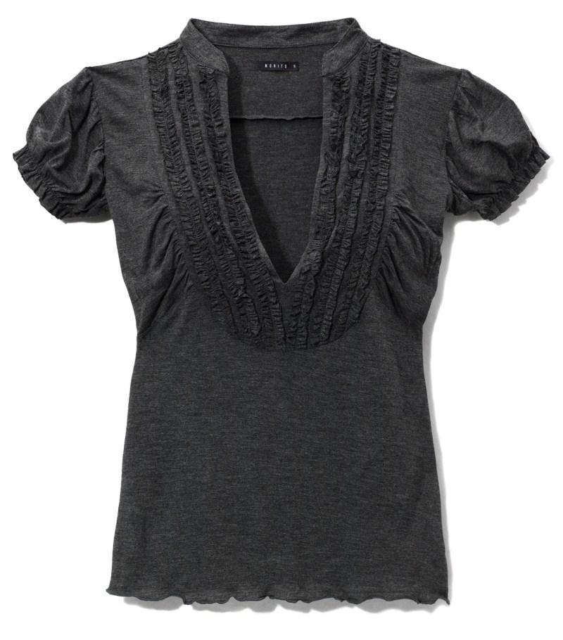 czarna bluzka Mohito z żabotem - sezon jesienno-zimowy