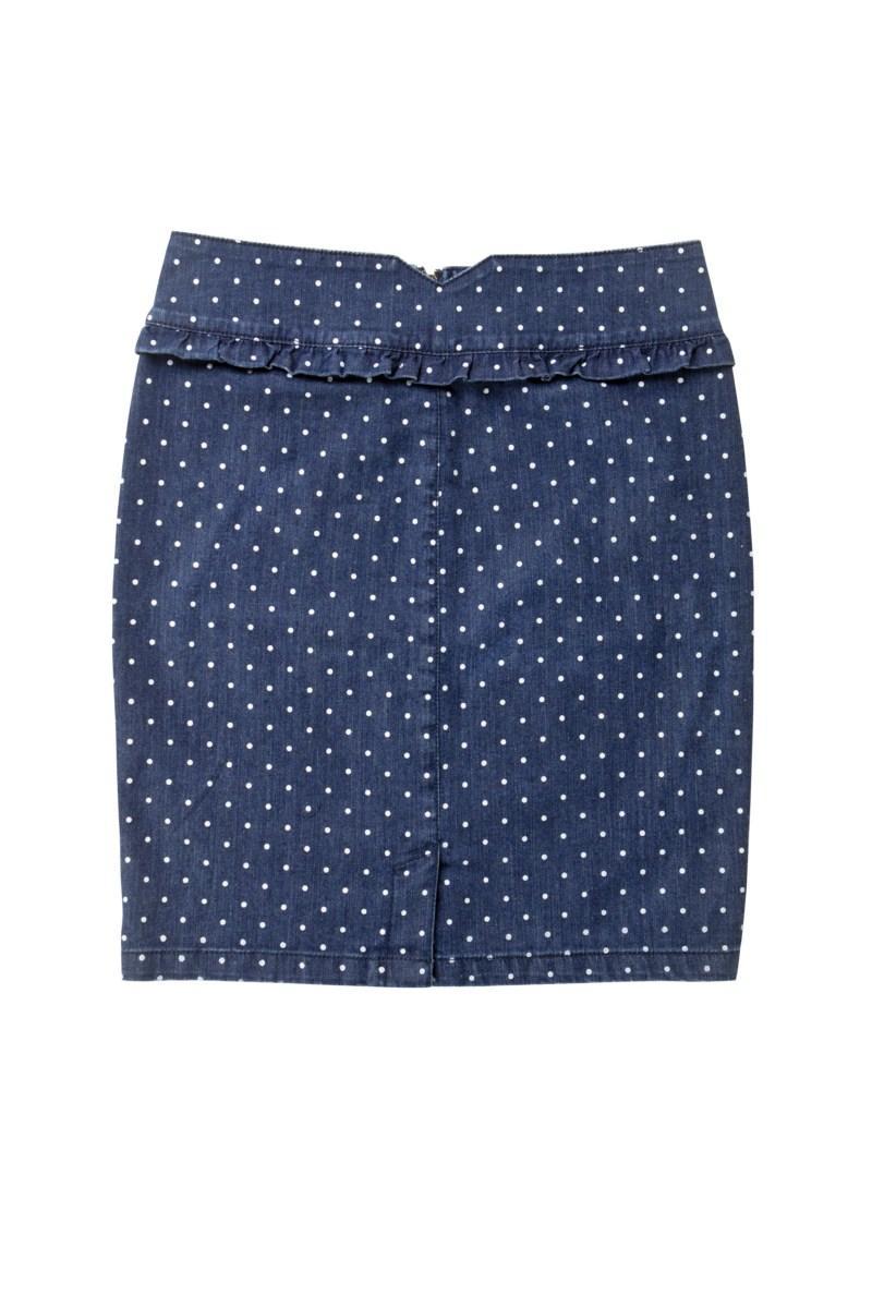 niebieska spódnica Mohito w groszki - moda 2011