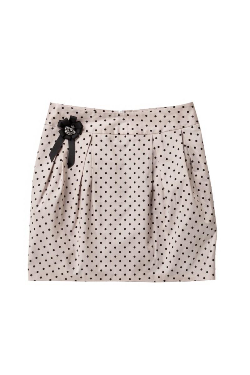 różowa spódnica Mohito w groszki - moda wiosna/lato