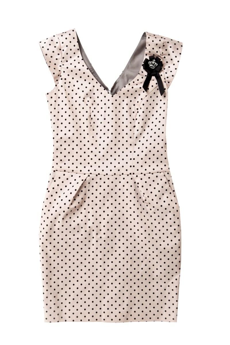 różowa sukienka Mohito w groszki - letnia kolekcja